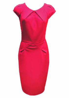 red roland mouret dress