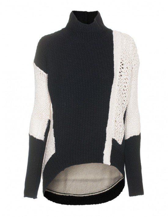 helmut-lang-melange-sweater-black-white-miami