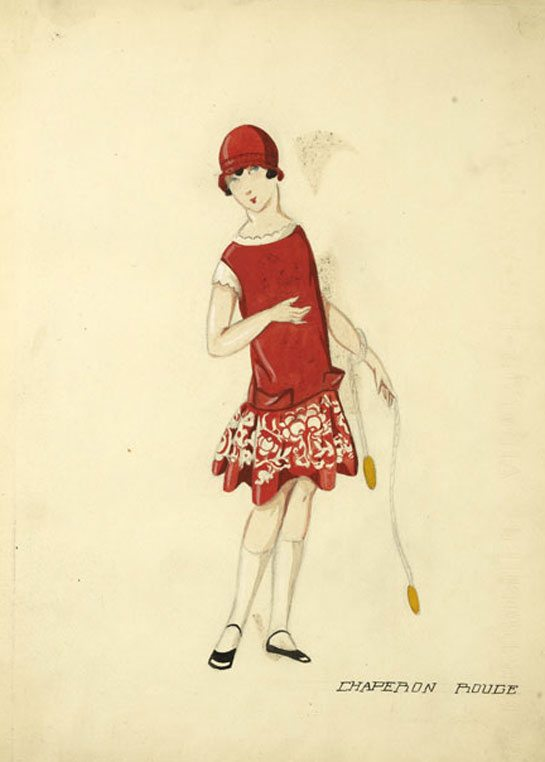 Jeanne Lanvin Drawings Of Little Girls Dresses From The