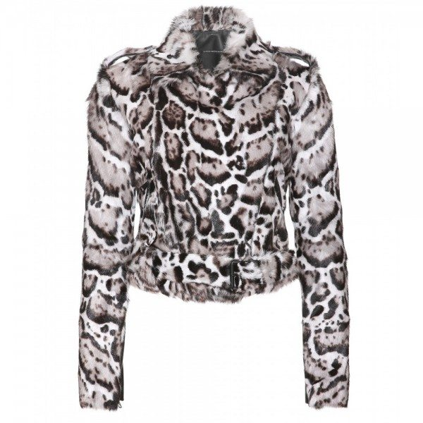 Christopher Kane JAGUAR-LEATHER-AND-FUR-BIKER-JACKET-STANDARD