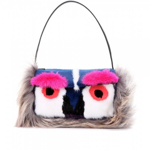 Fendi-Owl-Baguette-shoulder-bag-with-mink-and-fox-fur--STANDARD