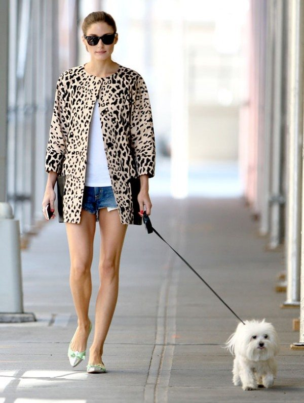 Olivia Palermo wears leopard print