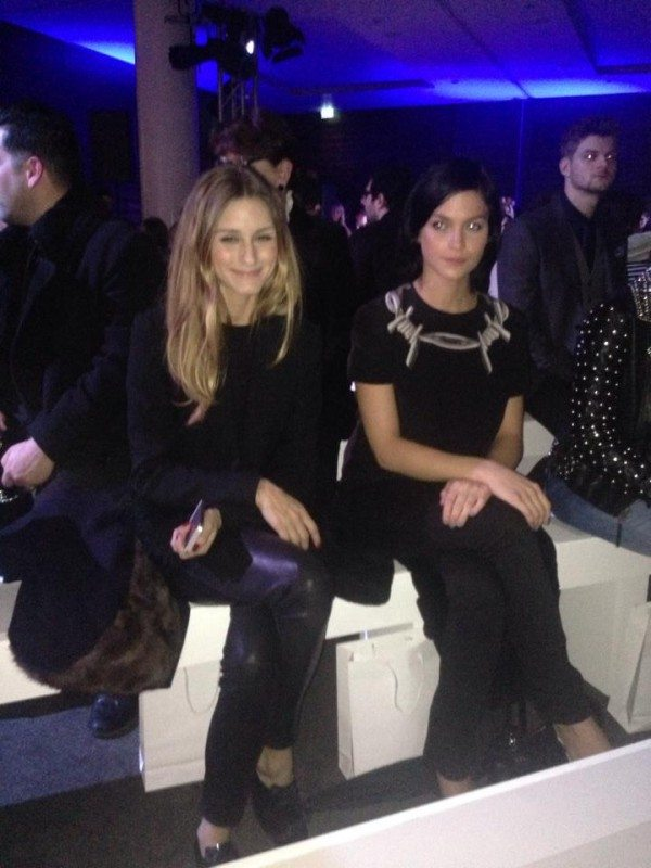 Olivia Palermo Front Row London Fashion Week AW2014